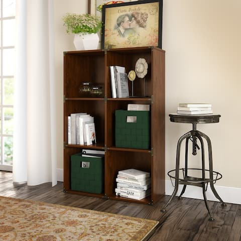Ironworks 6 Cube Bookcase from kathy ireland Home by Bush Furniture