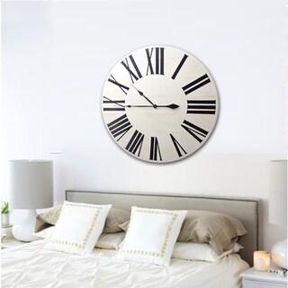 Link to Copper Grove Cranesbill White Wood Farmhouse Clock Similar Items in Decorative Accessories