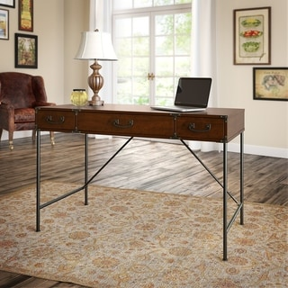 kathy ireland Office Ironworks Coastal Cherry 48W Writing Desk