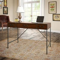 kathy ireland® Office Ironworks 48W Writing Desk in Coastal Cherry