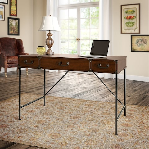 Ironworks 48W Writing Desk from kathy ireland Home by Bush Furniture