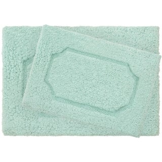 Vista Living Blossom Premium Super Plush 2-Piece Bath Rug Set