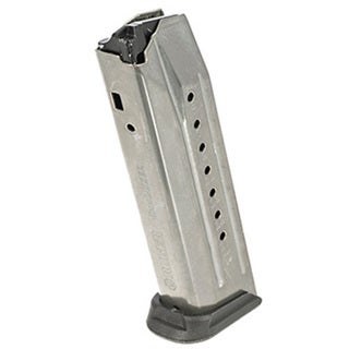 Ruger (Sturm, Ruger & Co, Inc) American Magazine 9mm Luger, 17 Rounds, Nickel Teflon Coated