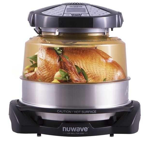 Nuwave elite oven 20522 w extender ring stainless steel for Perfect bake pro review