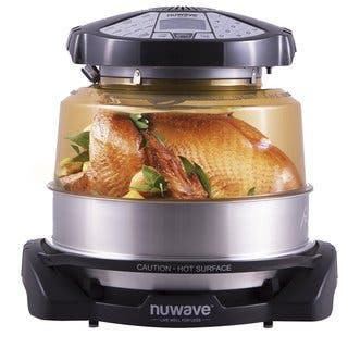 NuWave Elite Oven 20522 w/ Extender Ring, Stainless Steel Liner and Cooking Rack|https://ak1.ostkcdn.com/images/products/14038062/P20655306.jpg?impolicy=medium