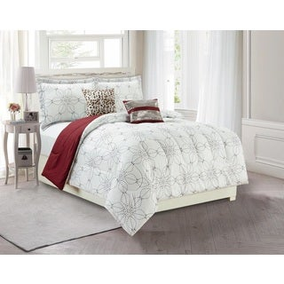 Artistic Linen Rihanna 5-piece Comforter Set with Two Fun Decorative Pillows