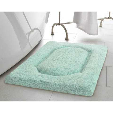 Vista Living Blossom Premium 17 x 24 in. Super Plush Bath Rug