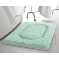 Vista Living Blossom Premium 17 x 24 in. Super Plush Bath Rug