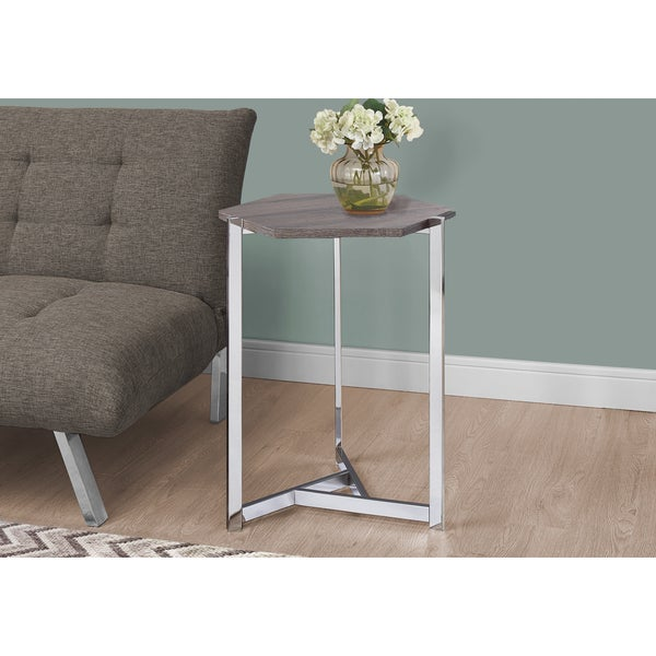 Taupe Hexagon Accent Table
