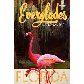 Marmont Hill - 'Travel Poster Everglades' Painting Print on Wrapped Canvas