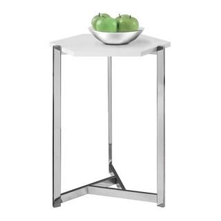 Hexagon White Chrome Polypropylene Pedestal Table