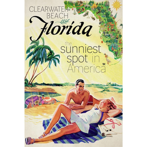 096f4ee8cc43 Marmont Hill -   x27 Travel Poster Florida  x27  Painting Print on