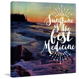Marmont Hill - 'Sunshine Medicine' Painting Print on Wrapped Canvas