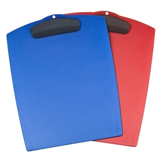 Storex Classroom Colors Multicolor Plastic Letter Clipboards (Pack of 12)