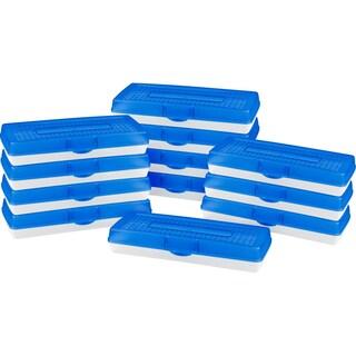Storex Stretch Pencil Case, Blue (Case of 12 units)