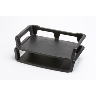 Storex Black Plastic Recycled Letter Tray (Pack of 6)