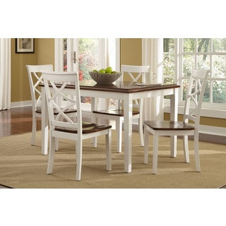 Harrison White Counter Height Dining Set