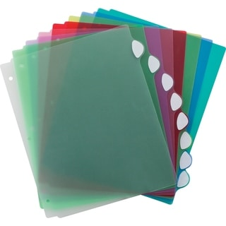 Storex Assorted Color Poly 8-writable Tab Divider Set 6-pack