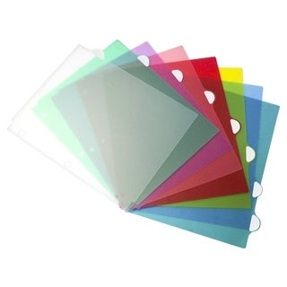 Storex Assorted Colors Plastic 5-tab Divider Set (Pack of 6 Sets)