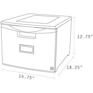 Storex Grey Plastic Single-drawer Mini File Cabinet With Lock|https://ak1.ostkcdn.com/images/products/14038501/P20655589.jpg?impolicy=medium
