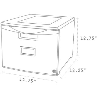 Storex Grey Plastic Single Drawer Mini File Cabinet With Lock
