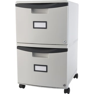 Storex 2-drawer Filing Cabinet /Grey plastic