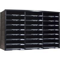 Storex Black 24-Compartment Literature Organizer
