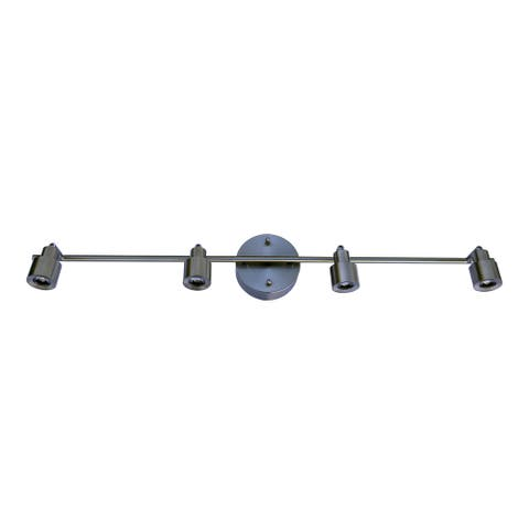 HomeSelects 7521 Contempo Collection Brushed Nickel 4-piece LED Track Lighting