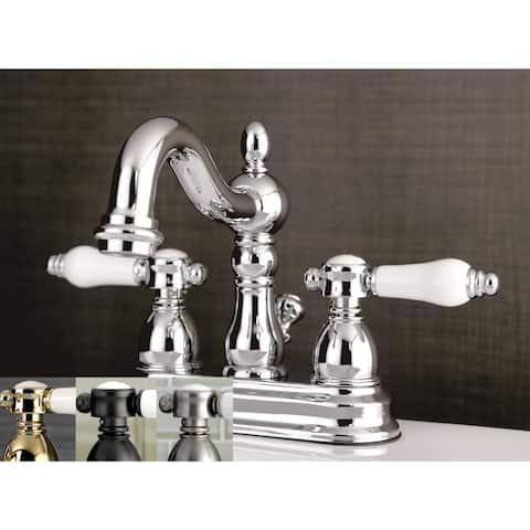 Victorian Porcelain Handles Bathroom Faucet
