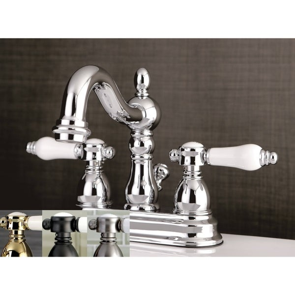 Aqueous Faucet Ballymore Victorian Double Handle Widespread Bathroom Faucet Reviews: Shop Victorian Porcelain Handles Bathroom Faucet