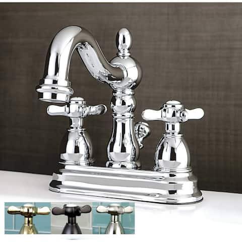 Victorian Cross Handles Bathroom Faucet