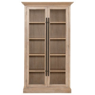 Gray Manor Cynthia Beige Wood Tall Cabinet