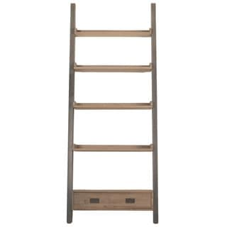 Gray Manor Gilbert Smoke Gray Pine and Steel Bookshelf