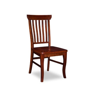 Atlantic Furniture Walnut Wood Venetian Dining Chairs (Set of 2)