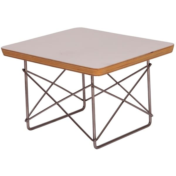 MLF White Wood Wire-base Table