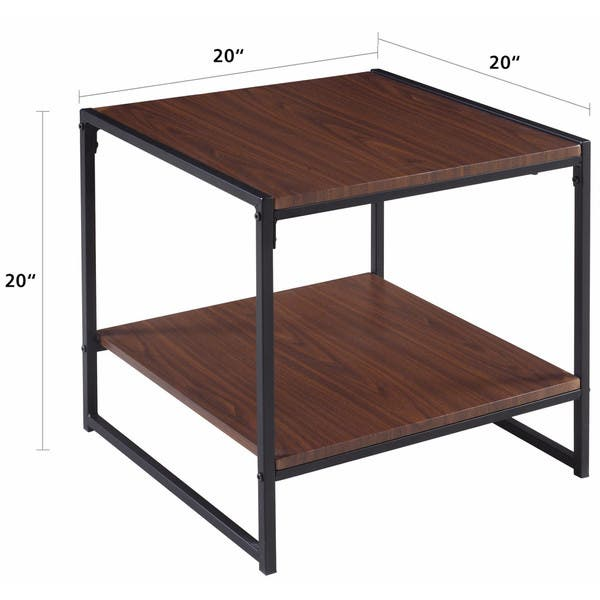 Shop Modern 20 Inch Square Side Table / End Table / Coffee Table