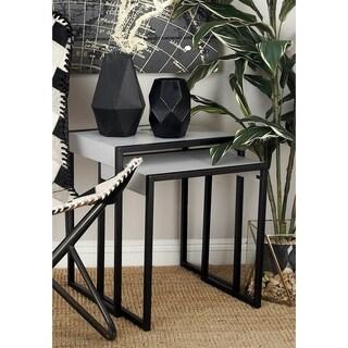 Benzara Metal/Wood Nesting Table (Pack of 3)