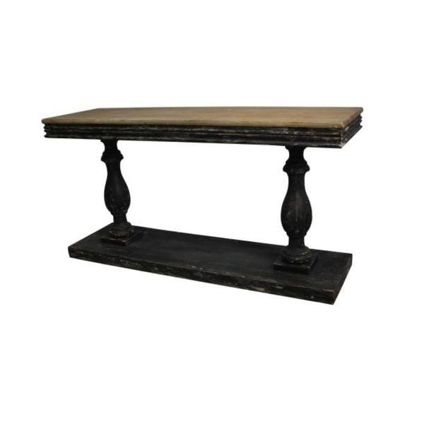 Studio 350 Wood Black, Light Brown Console Table