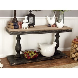 Farmhouse 31 Inch Rectangular Baluster Console Table by Studio 350