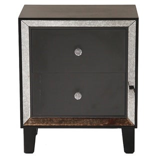 Bon Marche Collection Mirror-trim Cabinet with 2 Oversize Drawers