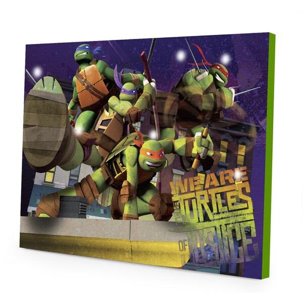 Shop Teenage Mutant Ninja Turtles Led Canvas Wall Art