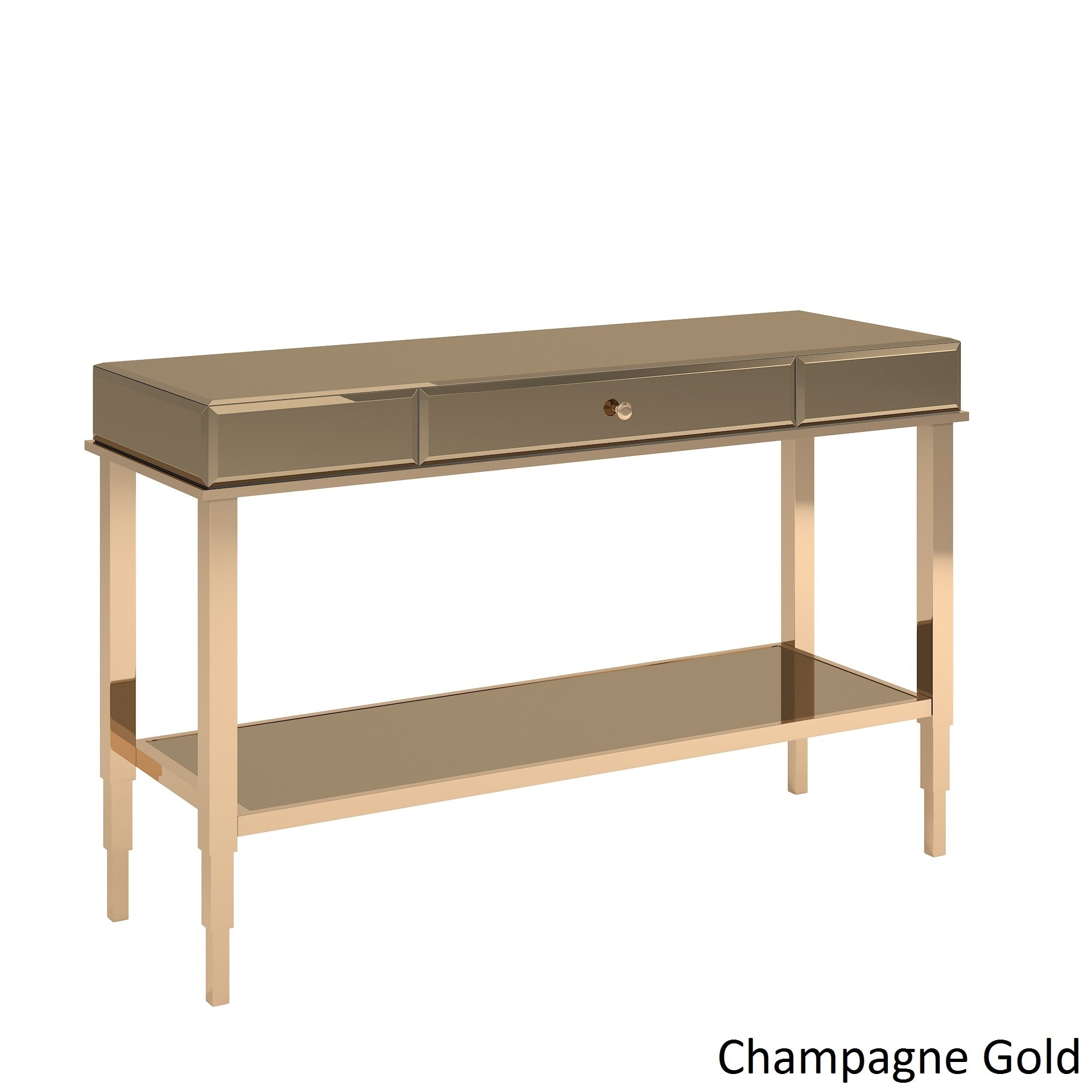 Camille Glam Mirrored TV Stand Console Table With