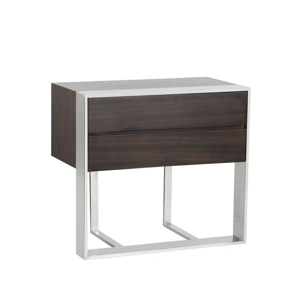 Wonderful Dalton Dark Brown Zebra End Table
