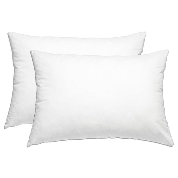 Pillow cover White Cotton Bed Bug/Dust Mite Protection,Pillow Protector, Allergy Control, Breathable (Set of 2)