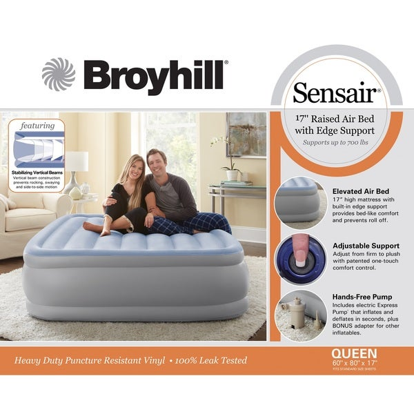 broyhill sensair queensize airbed free shipping today