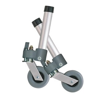 Drive Medical Aluminum Locking Swivel Walker Wheels with Two Sets of Rear Glides