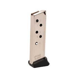 Walther PPK 380 ACP Magazine 6 Round, Finger Rest, Nickel