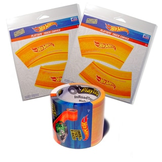 Hot Wheels Playtape Orange Track and Curves Starter Kit