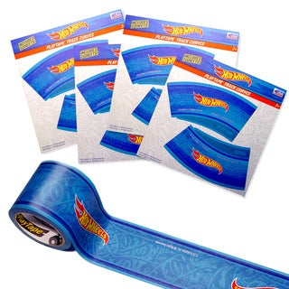 Hot Wheels Playtape Blue Track and Curves Starter Kit