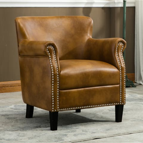 Hendrick Traditional Camel Club Chair by Greyson Living - See Product Description